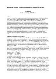 Doporučené postupy pro diagnostiku a léčbu komorových arytmií.