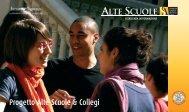 Progetto Alte Scuole e Collegi 2012 - Istituto Toniolo