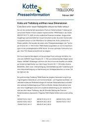 Kotte und Trelleborg eröffnen neue Dimensionen - Land24