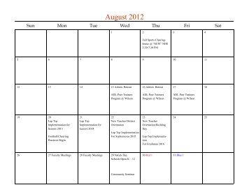 August 2012 - Natick Public Schools