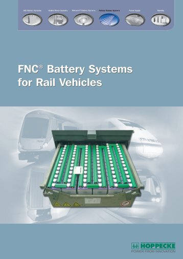 FNC® Battery Systems for Rail Vehicles FNC ... - Gothi-bg.com