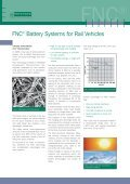 FNC® Battery Systems for Rail Vehicles FNC ... - Gothi-bg.com - Page 2