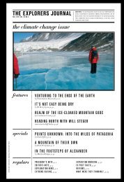 the explorers journal the climate change issue - The Explorers Club