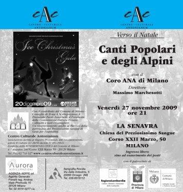 Canti Popolari e degli Alpini - Centro Culturale Antonianum
