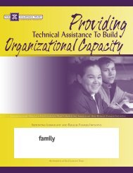 providing technical assistance to build organization capacity