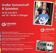 Das Programm mit allen Highlights gibt's hier. - Lebenshilfe Tübingen