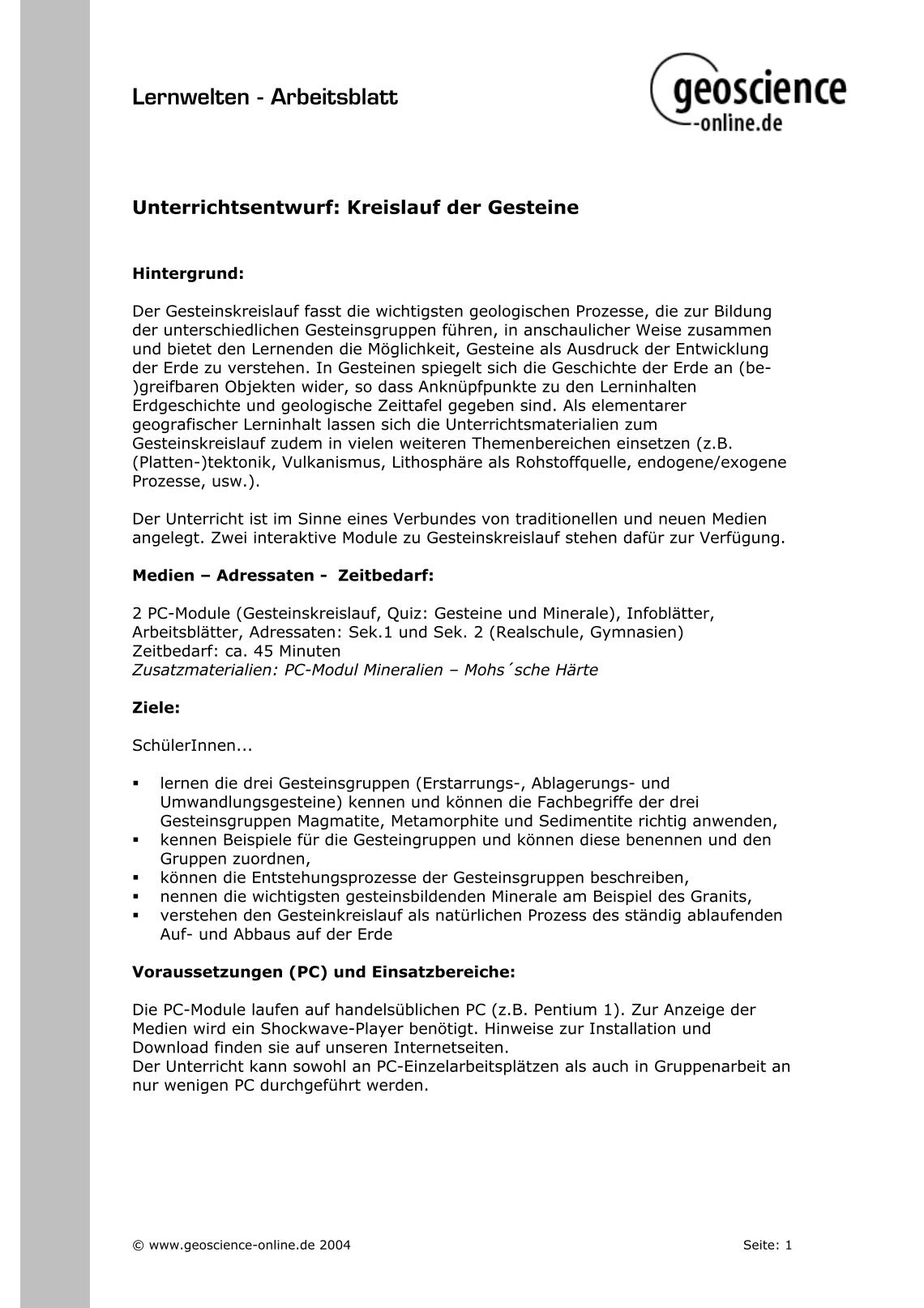 Old Fashioned Geowissenschaft Arbeitsblatt Pictures - Kindergarten ...