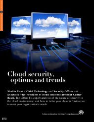 Cloud Security, Options and Trends - CenterBeam