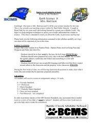 Earth Science 8 Mrs. Harrison - Battle Creek Middle School - St ...