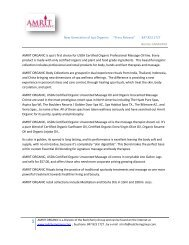 """New Generation of Spa Organics """"Press Release"""" - Red Cherry Group"""