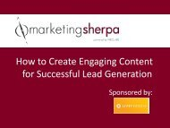 How to Create Engaging Content for Successful ... - MarketingSherpa