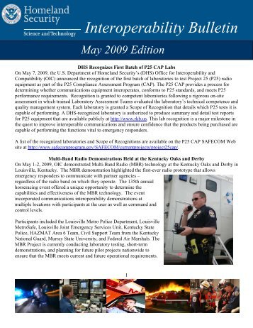Interoperability Bulletin - Emergency Management