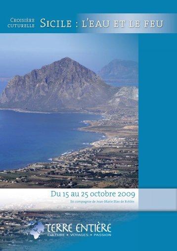 Sicile : l'eau et le feu - Terre Entière