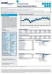Amundi Funds Equity Global Gold Mines - ACE Life Hong Kong