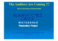Buxahatchee Creek Watershed Restoration Project - Alabama ...