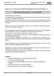 Newsletter Nr. 1 2009 Neues vom Lehrwesen des ... - WTB