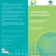 TERAPIE ORALI IN ONCOLOGIA - ASL n.3 Genovese