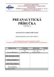 preanalytická příručka - Všeobecná fakultní nemocnice v Praze