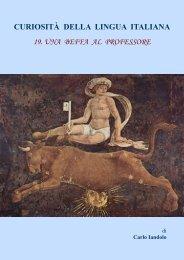 curiosità della lingua italiana 19. una beffa al professore - Vesuvioweb