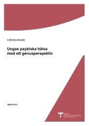 Ungas psykiska hälsa med ett genusperspektiv - Västra ...