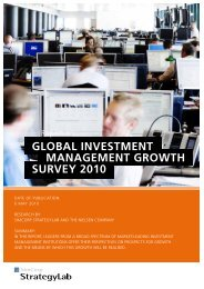 GLOBAL INVESTMENT MANAGEMENT GrOwTh SUrVEY 2010