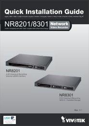 Vivotek NR8201 Network Video Recorder Installation Guide - Use-IP