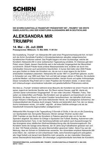 ALEKSANDRA MIR TRIUMPH