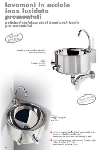 lavamani in acciaio inox lucidato premontati - River SPA
