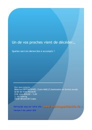 Plaquette décès 2012 - Soins palliatifs en Franche-Comté