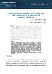 O uso de mapas conceituais no design educacional para o ...