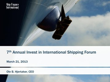 SFL presentation - Capital Link Forum