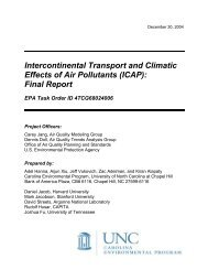 Final Report - Institute for the Environment at UNC - University of ...