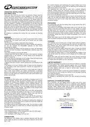 OPERATING INSTRUCTIONS LiPo Battery Pack ... - CMC-Versand