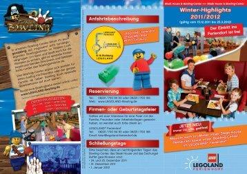 Reservierung Firmen- oder Geburtstagsfeier ... - Legoland