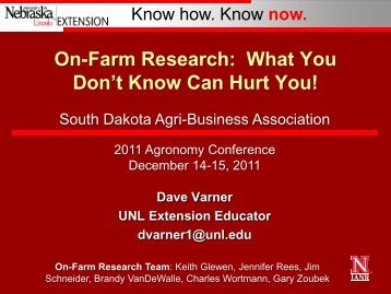 On-Farm Research - South Dakota Agri-Business Association