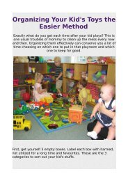 Organizing Your Kid's Toys the Easier Method