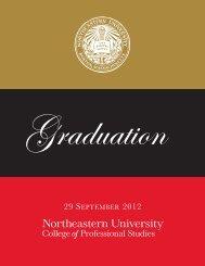 graduation program - Northeastern University College of ...