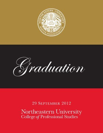 graduation program - Northeastern University College of ...