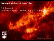 Statistical Analyses of Data Cubes