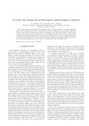 Coercivity and exchange bias of ferromagnetic/antiferromagnetic ...