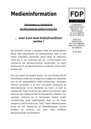 Medieninformation - FDP Baden-Württemberg