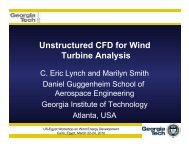 Unstructured CFD for Wind Turbine Analysis