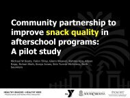 Community partnership to improve snack quality in afterschool ...