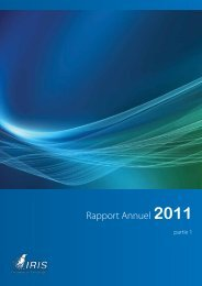 I.R.I.S. : Annual Report 2011 : part 1 : French - Analist.nl