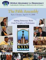 The Fifth Assembly - World Movement for Democracy