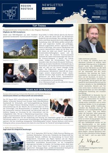 RMI Newsletter III 2012 - Region Rostock Marketing Initiative e.V.