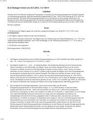 OLG Stuttgart Urteil vom 25.5.2012, 3 U 193/11 ... - Clearingstelle EEG