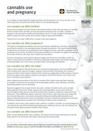 cannabis use and pregnancy - National Cannabis Prevention and ...
