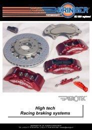 High tech Racing braking systems - Beringer.fr