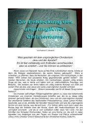 Die Entdeckung des ursprünglichen Christentums - Welt von ...